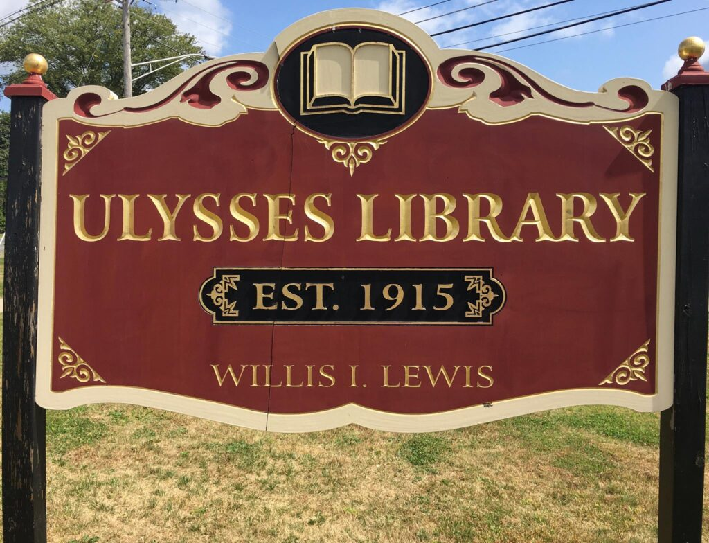 ulysses library sign